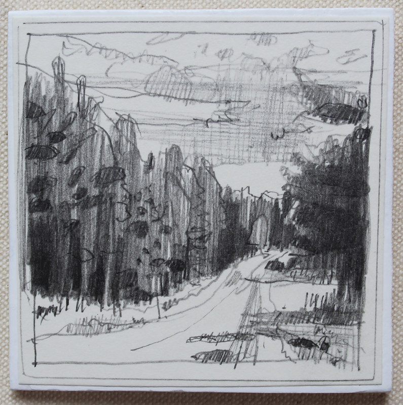 Drawing Forest Road by Harry Stooshinoff