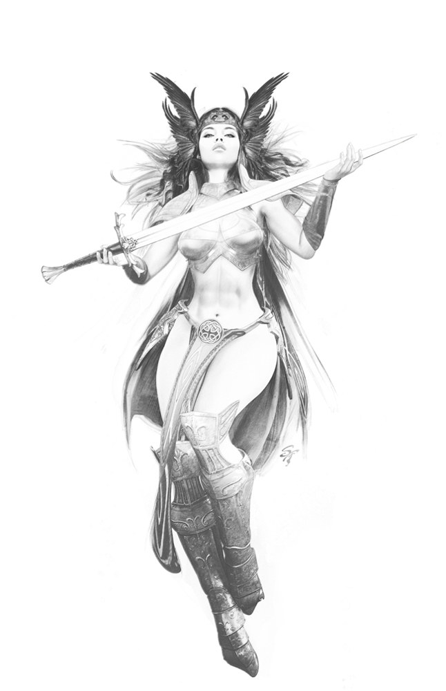 Enchantress Tight- Pencil by Steve Ferris