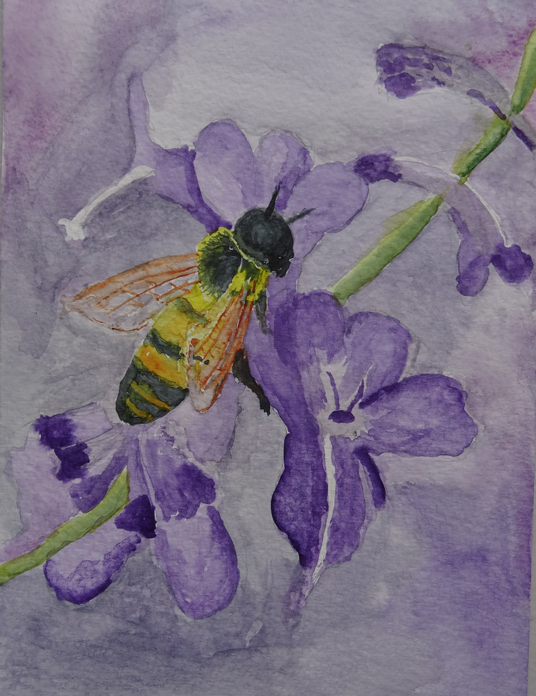 BeeonPurple by Joan Morris
