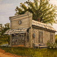"Oil painting ""The Old Mercantile"" by Gary Cheatham"