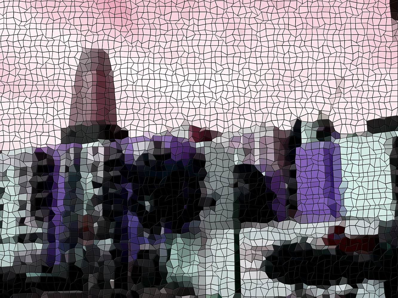 Print Skyline Mosaic  by Isaac Carpenter