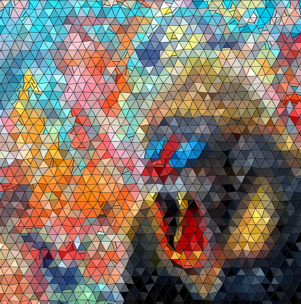Print Mandril mosaic by Isaac Carpenter