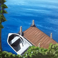 "Oil painting ""Bill's Boat"" by Anne French"