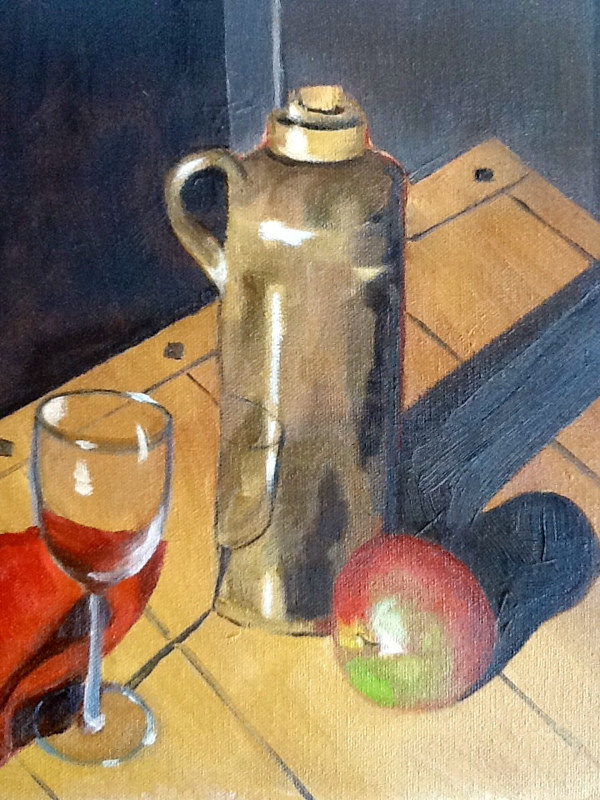 "Oil painting ""Apple Wine""  by Anne French"