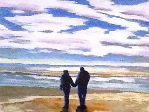 "Oil painting ""Sullivan's Island Stroll"" by Anne French"