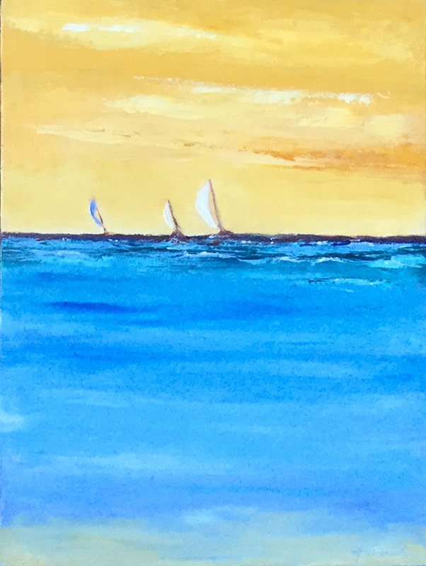 "Oil painting ""Sailing Day"" by Anne French"