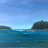 "Oil painting ""Schoodic Peninsula #2"" by Anne French"