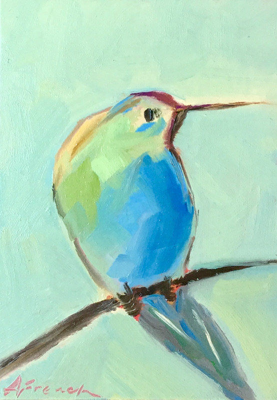 "Oil painting ""Summer Hummer"" by Anne French"