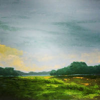 "Oil painting ""Sunrise on the Marsh"" by Anne French"