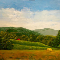 "Oil painting ""Sunset Farm, Crozet, VA"" by Anne French"