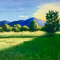 "Oil painting ""Blue Ridge View"" by Anne French"