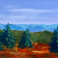 "Oil painting ""Ridge View"" by Anne French"