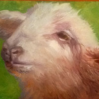 "Oil painting ""Mary's Lamb"" by Anne French"
