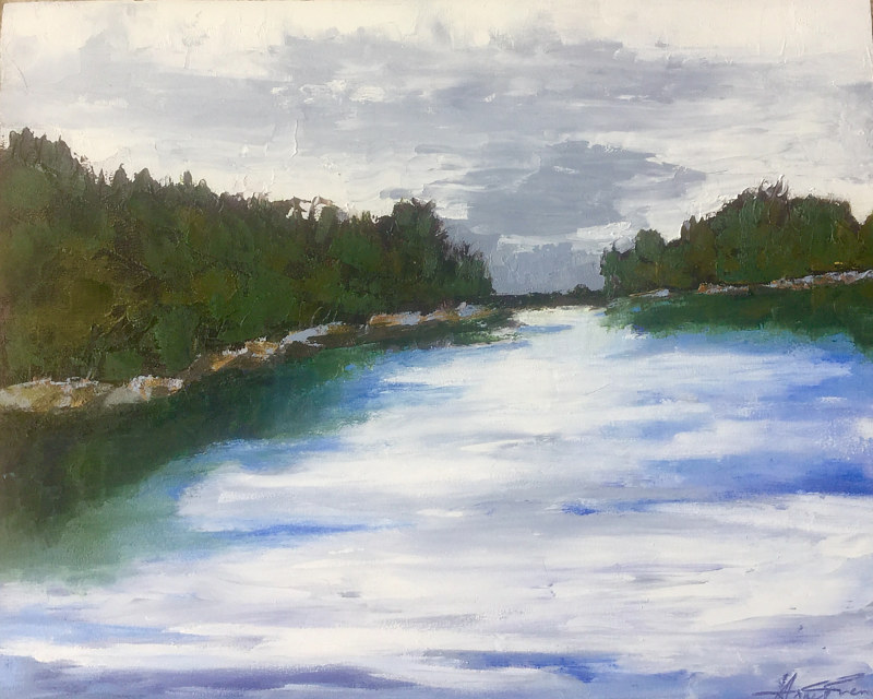 "Oil painting ""A River Runs Through It"" by Anne French"