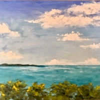"Oil painting ""Balcony View, Key Largo"" by Anne French"