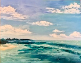 "Oil painting ""Key Largo, FL"" by Anne French"