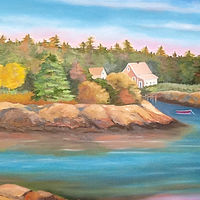"Oil painting ""Maine Summer"" by Anne French"
