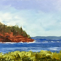 "Oil painting ""Bay of Fundy"" by Anne French"