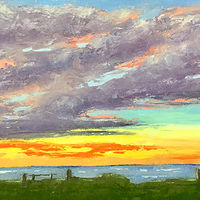 "Oil painting ""P.E.I. Clouds"" by Anne French"