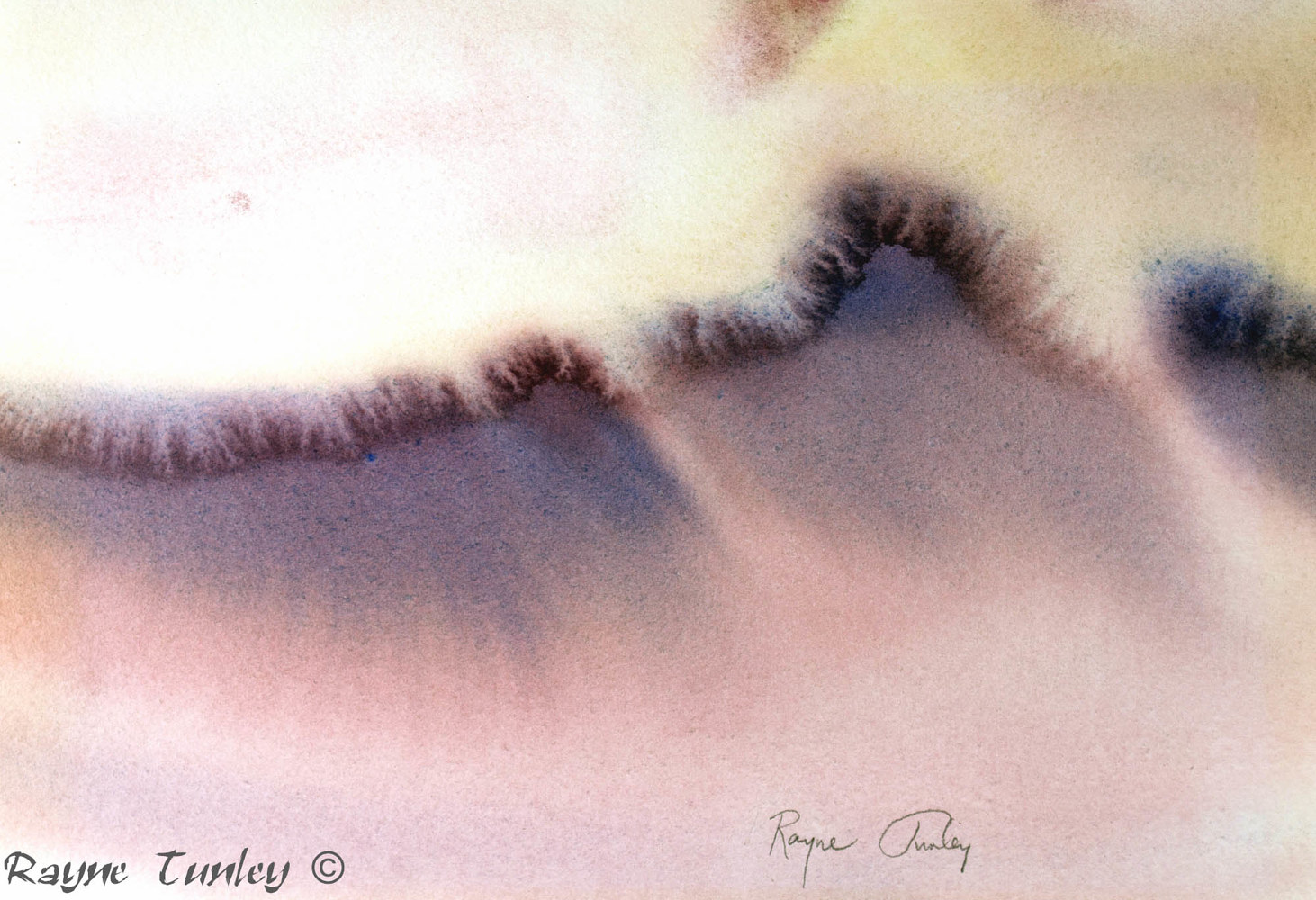 Rayne Tunley, Butterfly Wave, 7in x 10in, watercolour by Rayne Tunley
