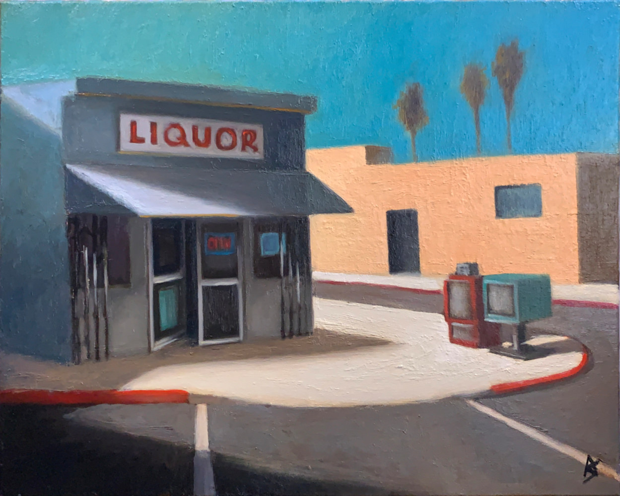Oil painting Storefront in Sunlight 3 by Alex Selkowitz
