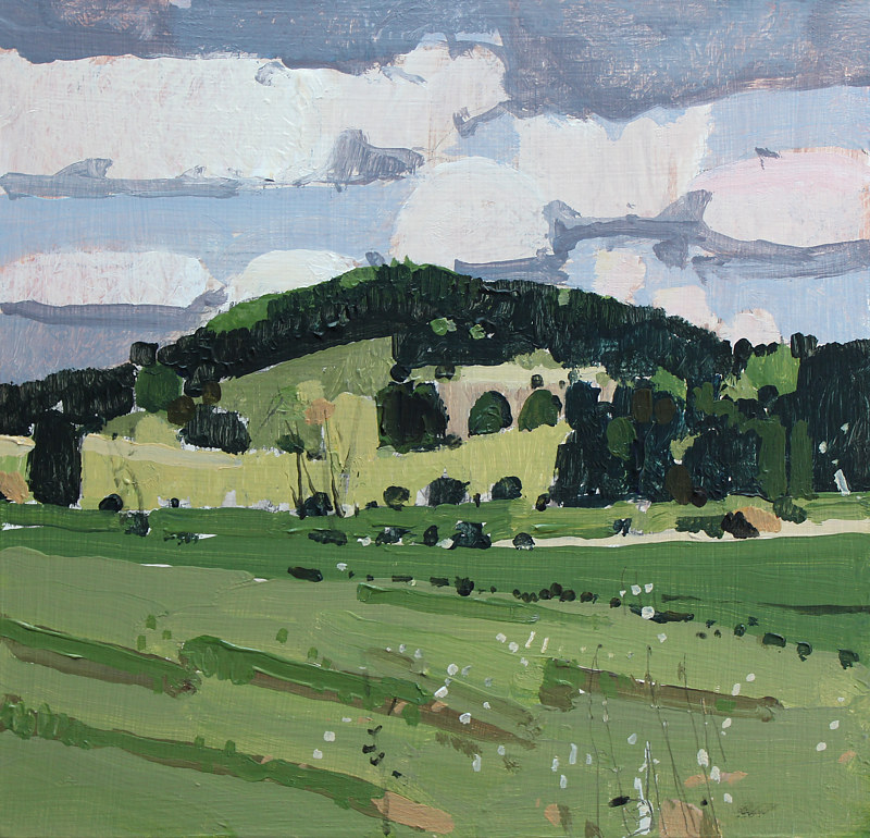 Acrylic painting Hill Near Happy Marion   by Harry Stooshinoff
