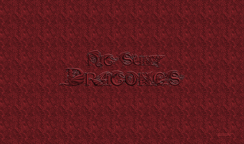 Drawing Hic Sunt Dracones, Red on Red by Sue Ellen Brown