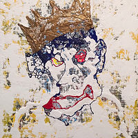 Mixed-media artwork king.joker by Jeffrey Newman