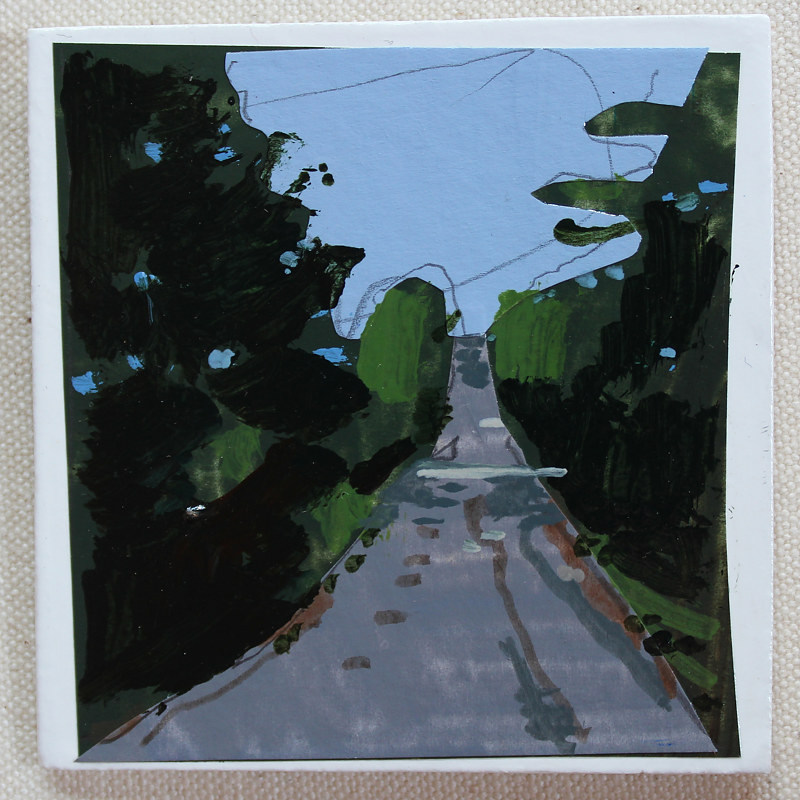 Acrylic painting Road Up  by Harry Stooshinoff