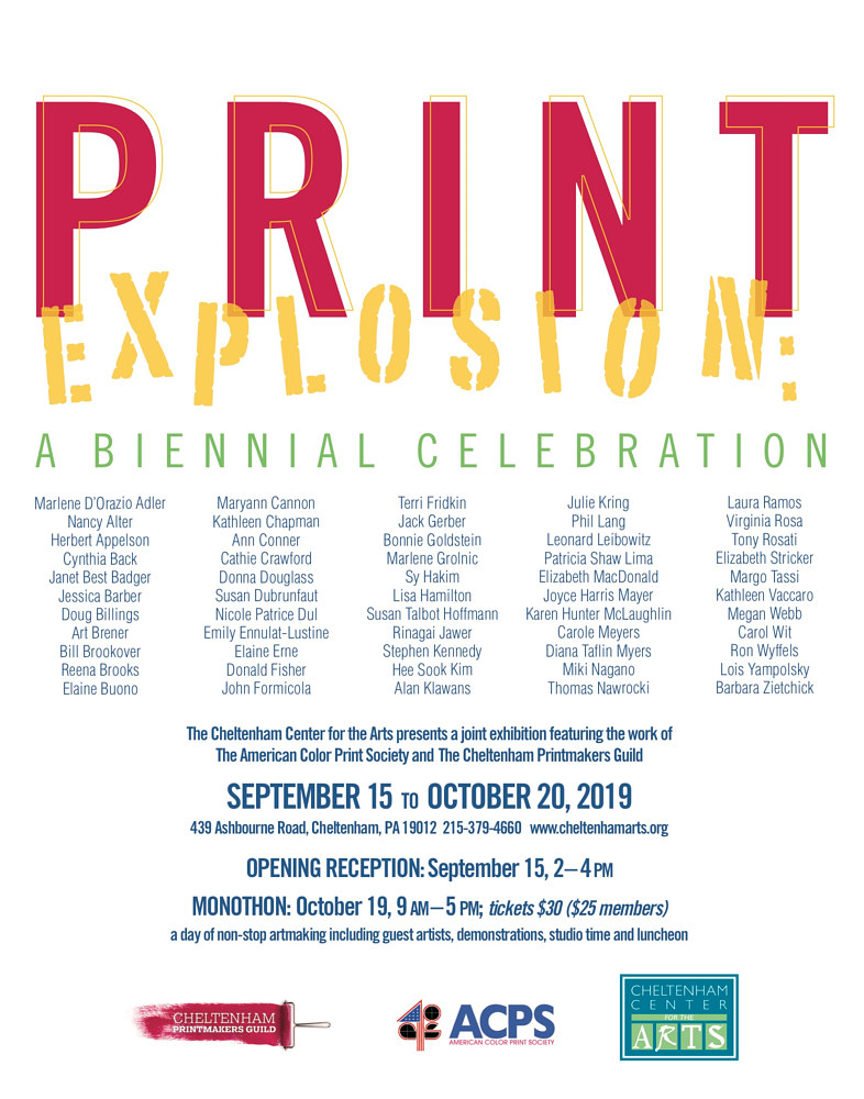 Print Explosion Poster by Cathie Crawford
