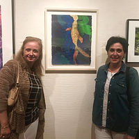 Mireille at opening in CA by Cathie Crawford