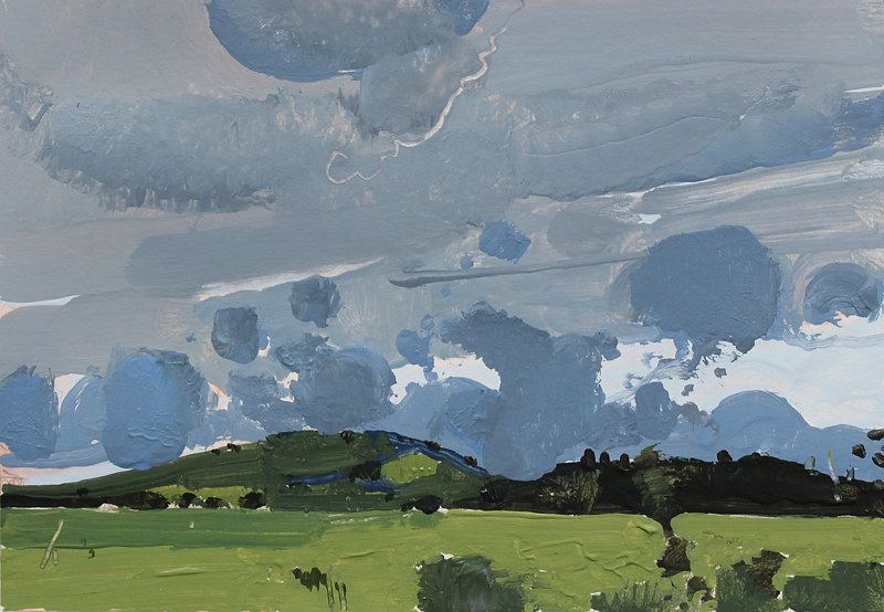 Acrylic painting Evening Clouds, Garden Hill  by Harry Stooshinoff