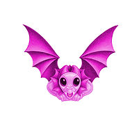 Print 5x7 Dragon Baby v, baby pink by Sue Ellen Brown