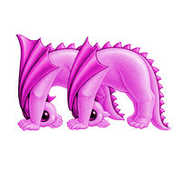 Print 5x7 Dragon Baby m, baby pink by Sue Ellen Brown