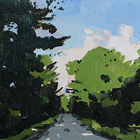 Acrylic painting Evening Light, September 10  by Harry Stooshinoff