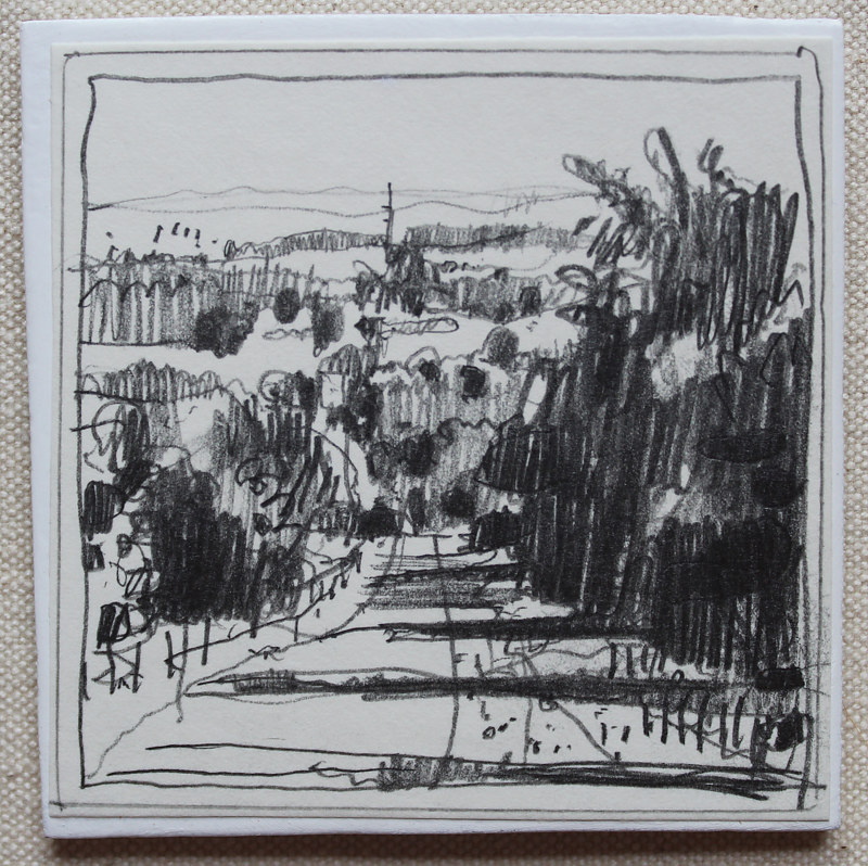 Drawing Highway Home  by Harry Stooshinoff