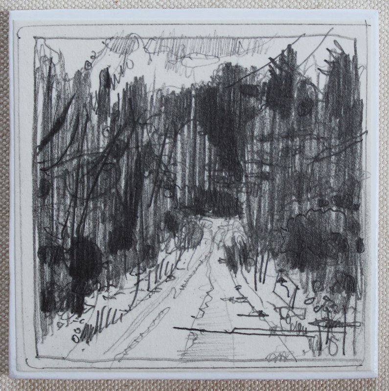 Drawing Forest Road, Zion  by Harry Stooshinoff
