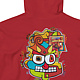 Painting Demon Doodle Graphic Hoodie Shirt Red by Isaac Carpenter