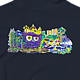 Painting Owl-Doodle-Shirt-Navy by Isaac Carpenter