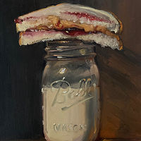 """PBJ & Ball Jar of Milk no.2""  by Noah Verrier"