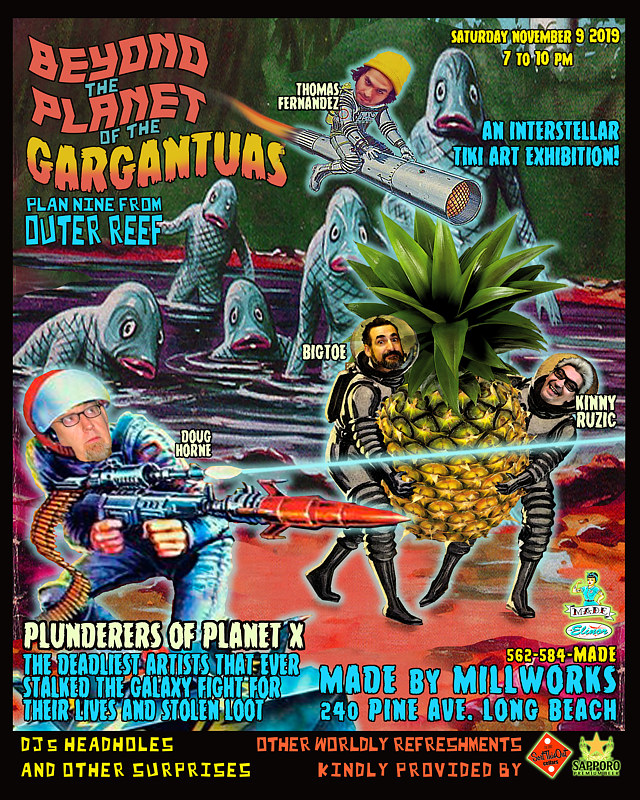 BEYOND THE PLANET OF THE GARGANTUAS PROMO FLIER 2 by Kenneth M Ruzic