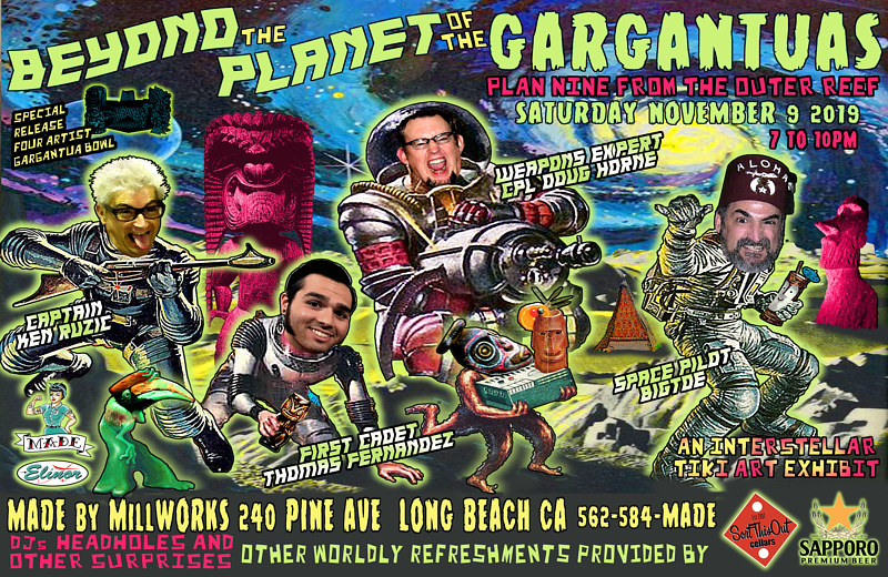 BEYOND THE PLANET OF THE GARGANTUAS PROMO FLIER 1 by Kenneth M Ruzic