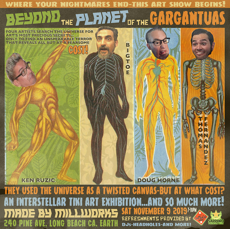 BEYOND THE PLANET OF THE GARGANTUAS PROMO FLIER 3 by Kenneth M Ruzic