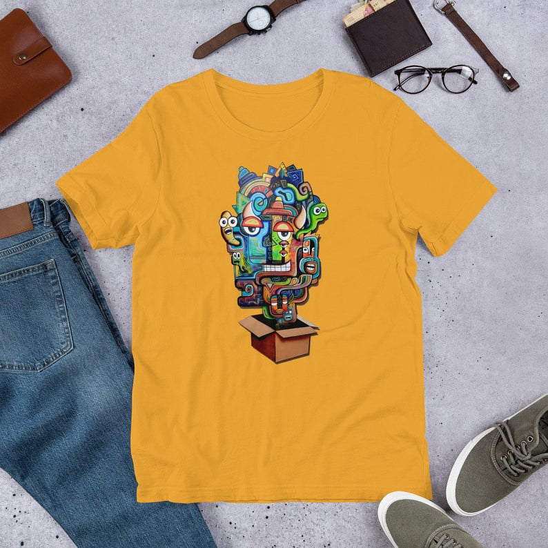 outside the box mustard shirt by Isaac Carpenter