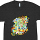 funky abstraction october remix shirt black by Isaac Carpenter