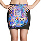 funky abstraction skirt black by Isaac Carpenter