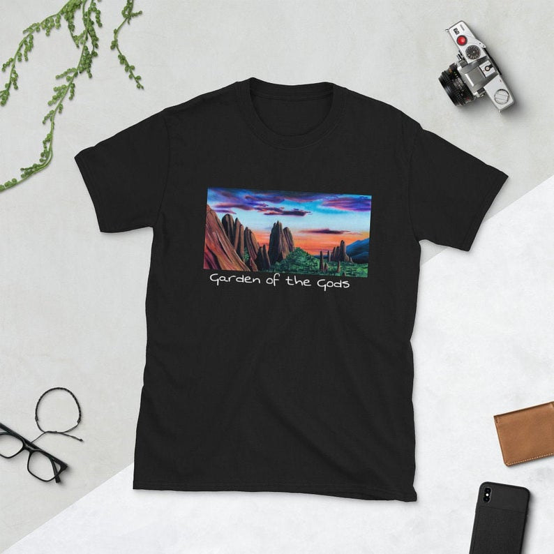 Garden of gods black shirt by Isaac Carpenter
