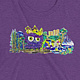 owl doodle purple shirt front by Isaac Carpenter