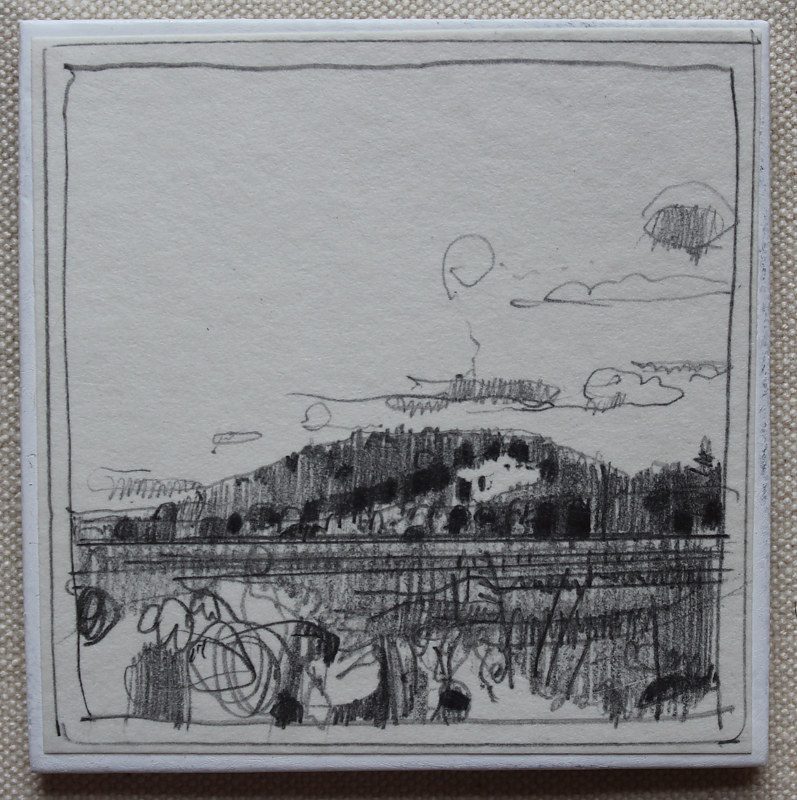 Drawing Garden Hill Afternoon  by Harry Stooshinoff