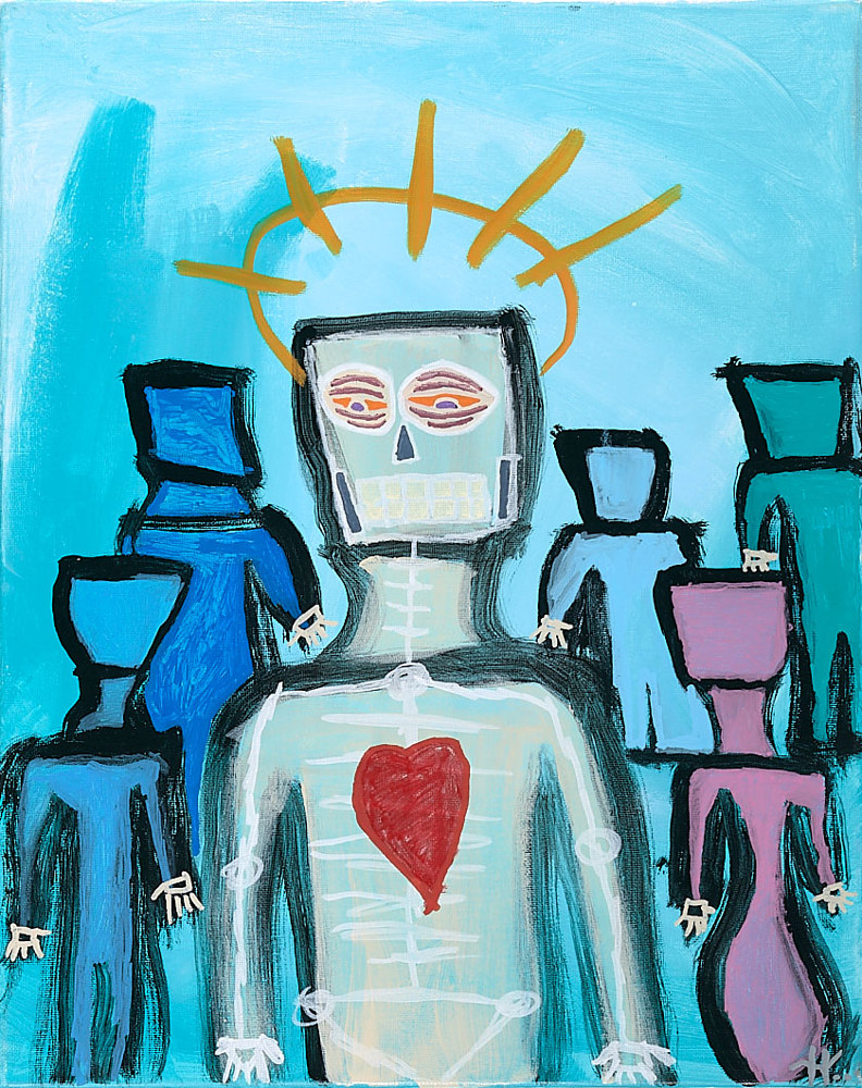 Acrylic painting The Sacred Saint of Insecurity by Kyle Heinly